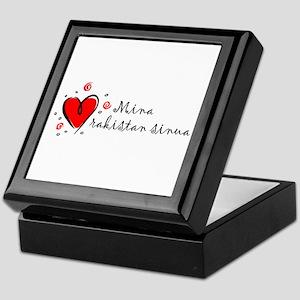 """""""I Love You"""" [Finnish] Keepsake Box"""